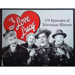 plaque  i love lucy coeur rouge style retro affiche pub usa