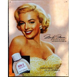 plaque marilyn monroe cosmetic's tole pub pin up star deco