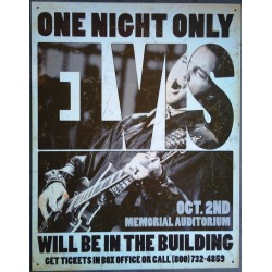 plaque elvis  presley one night only deco affiche tole king