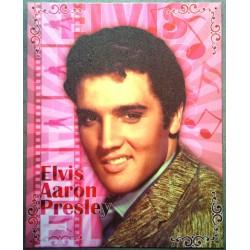 plaque elvis aaron presley sur fond rose tole pub affiche