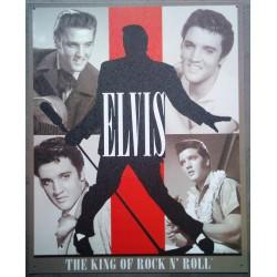 plaque elvis presley king of rock roll affiche tole pub deco