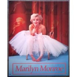 plaque marilyn monroe danseuce tole pub affiche pin up
