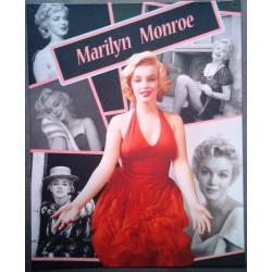 plaque marilyn monroe montage plusieurs photos tole affiche
