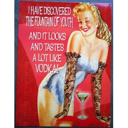 plaque pin up et vodka  fountain of youth pin up retro tole