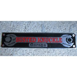 plaque de rue busted knuckle garage tole deco bar diner loft