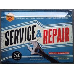 plaque service & repair méchanic tole deco garage usa loft