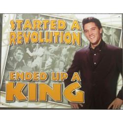 plaque elvis presley started a revolution tole pub metal usa
