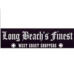 sticker west coast choppers noir pour pare choc 27x7cm