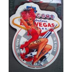 sticker pin up chapeau plume tattoo las vegas autocollant