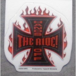 mini sticker croix de malte  the ridehand off autocollant