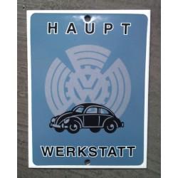 mini plaque emaillée vw haupt cox coccinelle volkswagen tole