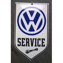 mini plaque emaillée VW service blason volkswagen 15x9 cm