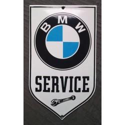 mini plaque emaillée BMW service tole email deco garage