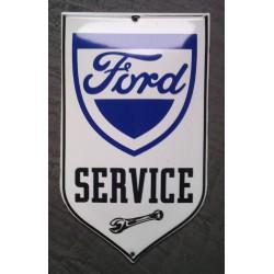 mini plaque emaillée ford service bombée tole email garage