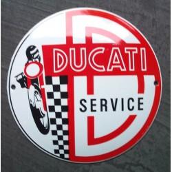 mini plaque emaillée ducati service 12cm tole email garage