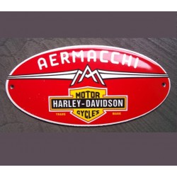 mini plaque emaillée harley aermacchi tole email garage usa