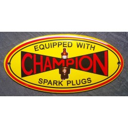 mini plaque emaillée champion spark plugs bougie tole email