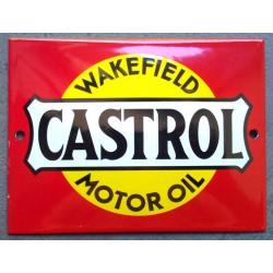 mini plaque emaillée castrol motor oil deco garage huile