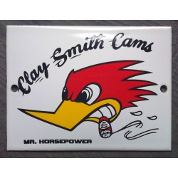mini plaque emaillée mr horsepower clay smith cam tole email