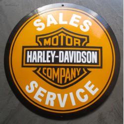 grosse plaque emaillée harley davidson bombé 40cm sales
