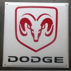 grosse plaque emaillée dodge carré tole bombé deco garage