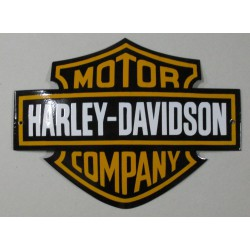 grosse plaque emaillée harley davidson blason bar shield