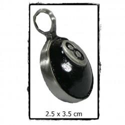 pendentif 8 ball noire boule e billard 3d homme femme