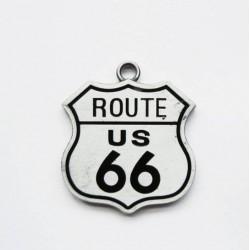 pendentif route 66 logo blason  home femme fan USA