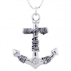 pendentif inox ancre de bateau homme femme rockabilly