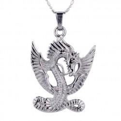 pendentif inox dragon homme femme bijoux