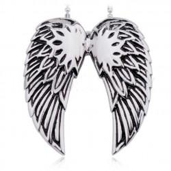 pendentif inox aile d'ange femme pin up retro rockabilly