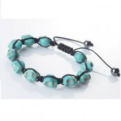 bracelet crane turquoise bleu shamballa femme pin up punk