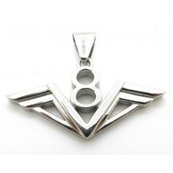 pendentif inox logo moteur V8 homme femme rocker