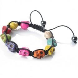bracelet crane multicolore shamballa femme pinup rockab punk