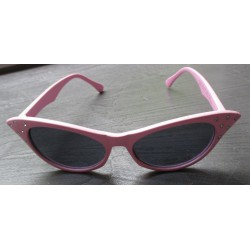 lunette de soleil femme cat eye strass rose pale pin up