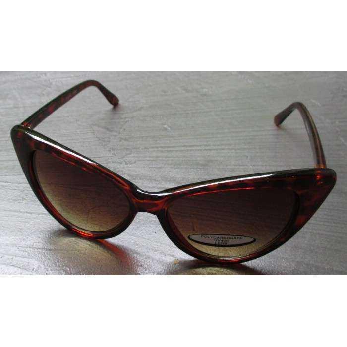 hotrodspirit - lunette de soleil femme petit cat eye leopard pin up QXPeT0w708