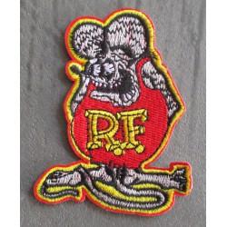 patch rat fink gris 8cm ecusson thermocollant hot rod kustom