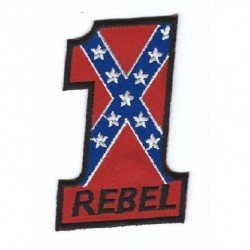 patch N°1 rebel ecusson thermocollant biker motard rock roll