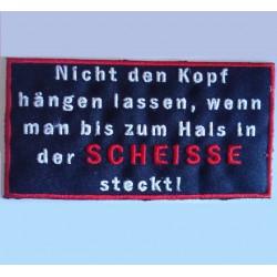 patch allemand humour scheisse ecusson themocollant