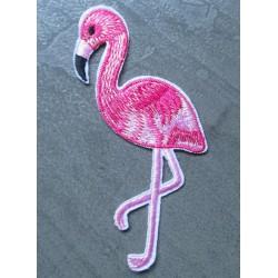 patch flamand rose idéal pin up rockabilly kitch oiseau