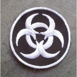 patch biohazard rond noir danger radiation ecusson punk