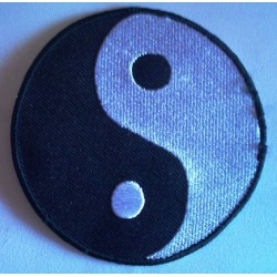 patch yin yang rond noir blanc ecusson thermocollant
