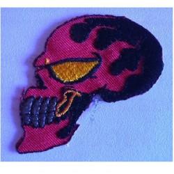 patch crane noir flamming rouge ecusson thermocollant biker