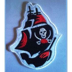 patch bateau pirate tete de mort ecusson rock roll biker