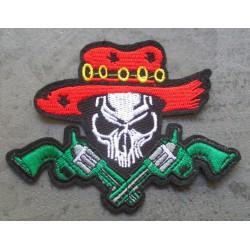 patch crane chapeau et 2 pistolet ecusson thermocollant