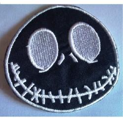 patch crane mr jack noir qui sourit ecusson thermocollant