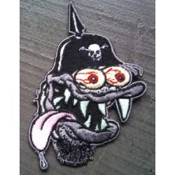 patch monstre casque a pointe qui tire la langue ecusson usa
