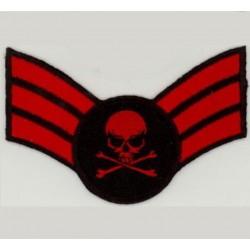 patch MINI épaulette crane rouge ecusson tete de mort biker