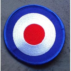 patch cible logo vespa mod cible bleu ecusson rock roll