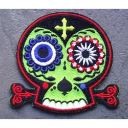 patch crane muerte vert ecusson rock roll rockabilly punk